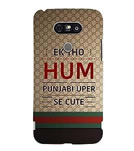 EPICCASE quotes on punjabi Mobile Back Case Cover For LG G5 (Designer Case)