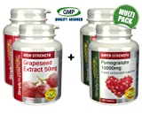 SimplySupplements Grapeseed Extract 50mg 360 tablets + Pomegranate 10000mg 240 tablets |Detox & cleanse combination