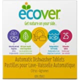Ecover Natural Plant-based Automatic Dishwasher Tablets, Citrus, 25 Count (Pack of 6)(Packaging may vary)