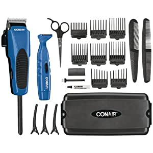 New - CONAIR HCT300GB COMBO CUT 20-PIECE DELUXE HAIRCUT KIT - HCT300RGB