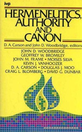 Hermeneutics, Authority and Canon