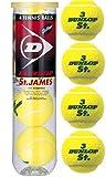 DUNLOP(ダンロップ)【St.JAMES(セント・ジェームス(4個入り)〔15ボトル〕】テニスボール