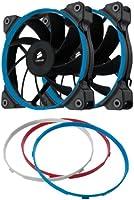 Corsair Ventilateur Grand Débit AF120 Edition Performance 120mm - Noir, Bleu, Rouge, Blanc - Pack double (CO-9050004-WW)