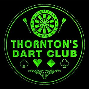 4x ccts1354-g THORNTON'S Dart Club Game Room Bar Beer 3D Drink Coasters