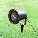 Laser Light Show Indoor / Outdoor Projector - Rotating Zooming Red and Green Lasers, Perfect for Landscaping, Gardens, Advertising, Parties