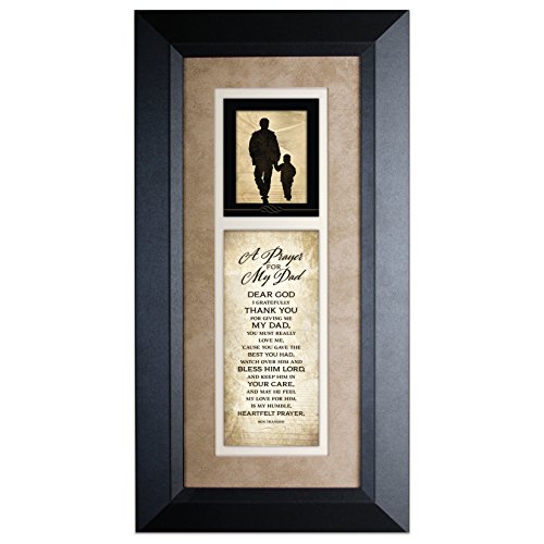 A Prayer for My Dad 8 x 16 Wood Wall Art Frame Plaque