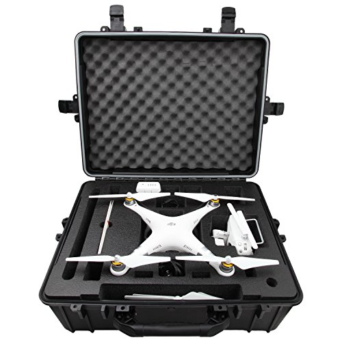 DJI Phantom 3 Hard Case, Military Spec., Waterproof & Airtight | Premium Carrier with Precision-Cut Foam for Custom Fit | Professionally Tested | Protects & Stores Your Quadcopter & GoPro Accessories