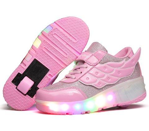 KE-Unisex-LED-de-luz-intermitente-ruedas-auto-prrafo-Roller-Skates-Polea-Zapatos-deportivos