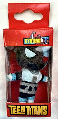 Teen Titans Dolls DC Comics Cyborg String Doll Keychain
