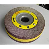 "Premium FLAP WHEEL 6"" x 1"" with 1"" bore includes 3/4"" 5/8"" 1/2"" Bushing  Unmounted 180 grit"