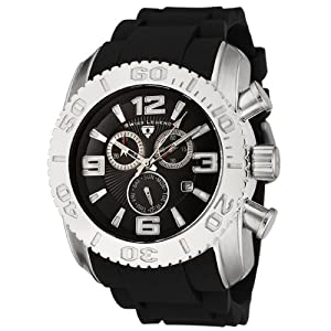Mens 20067-01 Commander Collection Chronograph Black Dial Black Rubber Watch