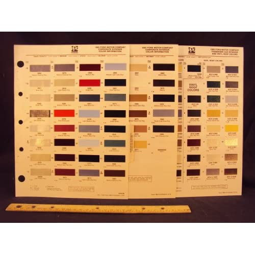 1983 ford motor company lincoln mercury paint colors for Ford motor paint colors