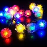 イルミネーションWEINASledイルミネーション ライトソーラーライトled電飾 6.5m 30球 防水夜間自動点灯 パーティー、ハロウィン、クリスマス電飾(毛球)