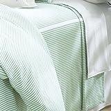 Classic Seersucker Tailored Bedspread - Queen Green/White