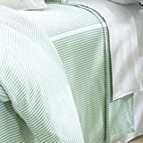 Classic Seersucker Tailored Bedspread - Full Orange/White
