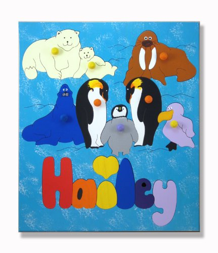 Cheap KidPuzzles Wooden Puzzle with Name Polar Animals (B00564HKAI)