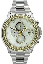 Citizen Eco-Drive Nighthawk Chronograph Stainless Steel Women's watch #FB3000-59C