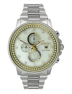 Citizen Eco-Drive Nighthawk Chronograph Stainless Steel Women's watch #FB3000-59C