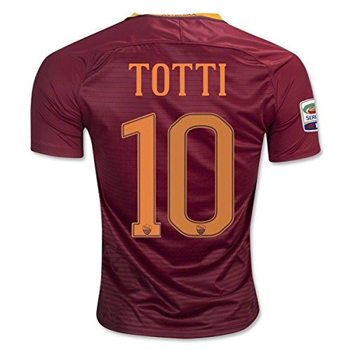 totti-10-roma-2016-2017-soccer-jersey-home-mens-size-m