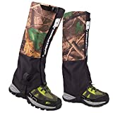 AMYIPO Unisex Snow Leg Gaiter, Front Opening Velcro Design Gaiter, Hiking Boots Gaiters Waterproof Gaiters (Camo)
