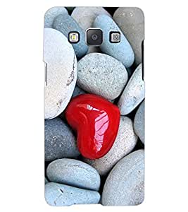 ColourCraft Heart in Stones Design Back Case Cover for SAMSUNG GALAXY A7