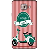PrintVisa Designer Back Case Cover For Samsung Galaxy On Max (Cycle Love Romantic Romance Wheel)
