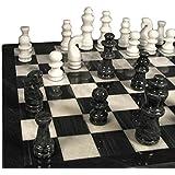 Marble Chess Set, Black/White
