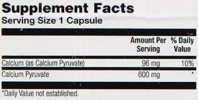 Solaray Calcium Pyruvate Capsules, 600 mg, 100 Count