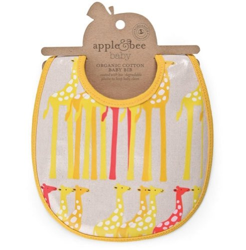 Apple & Bee Organic Baby Bib - Giraffe Bib - 1
