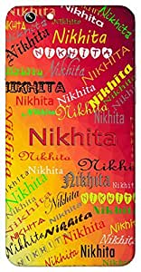 Nikhita (Earth Ganges) Name & Sign Printed All over customize & Personalized!! Protective back cover for your Smart Phone : Samsung Galaxy E-7