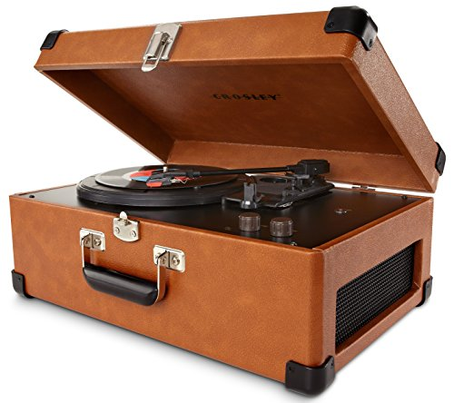 Crosley Cr6249A-Ta Keepsake Usb Portable 3-Speed Turntable With Software Suite For Ripping And Editing Audio (Tan)