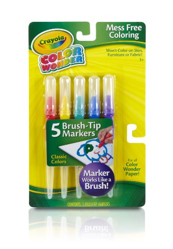 Crayola Classic Color Wonder Brush Tip Markers front-968202