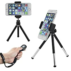 CamKix Universal Wireless Photo/Selfie Kit with Bluetooth Remote Control and Tripod - Handsfree Control of Camera Shutter from a Distance of up to 30 feet - Suitable for iOS and Android Smartphones