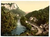 Derbyshire, Matlock Bath, High Tor And The River Derwent - English Photochrome - EPC603 Matte Paper A2 Size