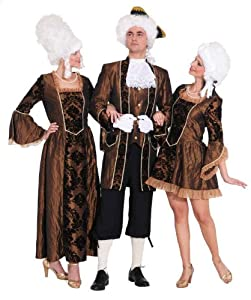 Rokoko Damen Kostüm Baronesse in braun zu Karneval Fasching Gr.36