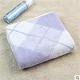 Tender Towels Purple Plaids Stripes Bath Towels for Adults Super Soft Cotton Bath Towels