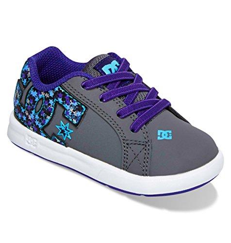 Dc Court Graffik Elastic Ul Skate Shoe (Toddler),Aqua,8 M Us Toddler front-995551