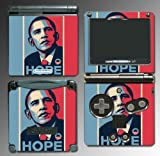 President Barack Obama Hope Poster Video Game Vinyl Decal Cover Skin Protector for Nintendo GBA SP Gameboy Advance Game Boy