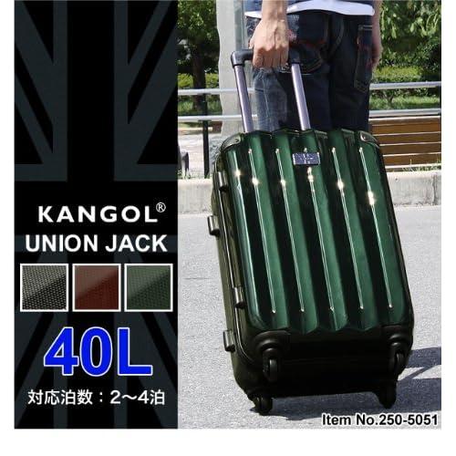 KANGOL UNION JACK カンゴール スーツケース 40L ポリカーボネート ABS TSAロック 4輪 軽量 ファスナー式 250-5051 ワイン