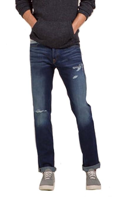 Hollister Co. Men's Medium Wash Destroyed Skinny Fit Jeans