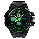 2014 Susenstore Multi Function Military S-shock Sports Watch LED Analog Digital Waterproof Alarm