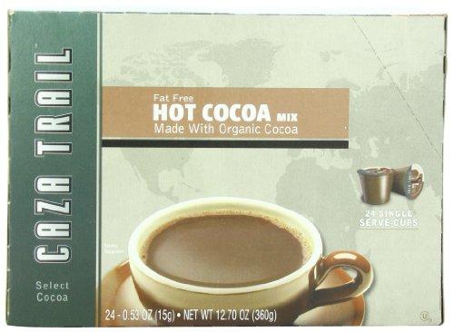 Caza Trail Hot Cocoa, Organic Fat Free, 24 Single Serve Cups