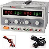 Dr.Meter® Triple Linear Variable DC Power Supply, 30V, 5A