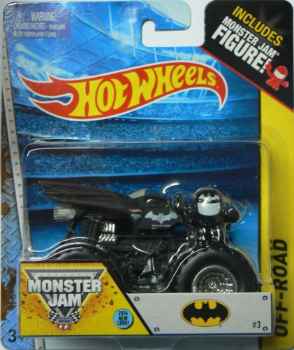 Hot Wheels 2014 Monster Jam #3 Off-Road Batman Includes Monster Jam Figure! - 1
