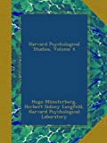 img - for Harvard Psychological Studies, Volume 4 book / textbook / text book