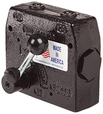 "Prince RD-175-30 Flow Control Valve, Adjustable Pressure Relief, Cast Iron, 3000 psi, 0-30 gpm, 3/4"" NPTF"