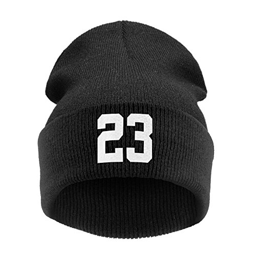 23 Winter Beanies Hat and Skullies Hat (Black-White)