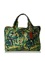 Borbonese Bolso asa de mano 92H Canvas Jungle (Verde / Multicolor)