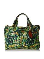Borbonese Bolso asa de mano 92H Canvas Jungle (Verde / Multicolor)