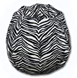 Microfibres Zebra Bean Bag Chair